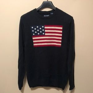 NWT Chaps American flag sweater 2x